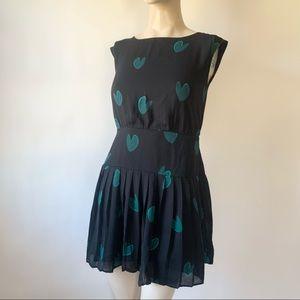Loft Mini Heart Print Dress